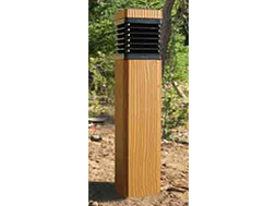 Bollard - Wood-Grained - Exterior